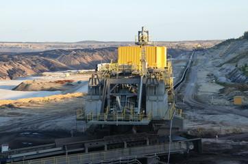 Umlenkstation der Bandanlage im Tagebau