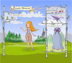 Princess Dress up game.