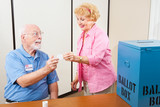 Polling Volunteer and Voter - Fine Art prints