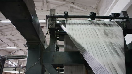 Roll machine for paper