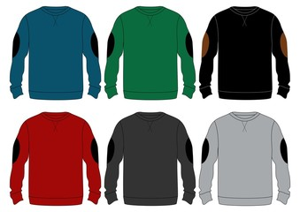 BLANK JUMPER DESIGN TEMPLATE FOR CLOTHING MENSWEAR