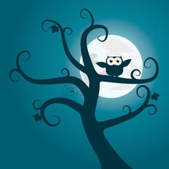 Baum mit Eule