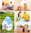 Real estate collage: moving to new house
