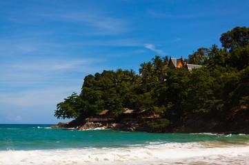 Landscape photo of tranquil island beach
