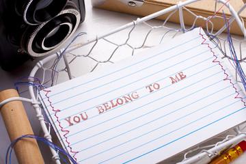 You belong to me card