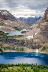Wild landscape mountain range view, Alberta, Canada
