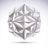 Abstract 3D origami polygonal object, vector geometric design el - 70771249