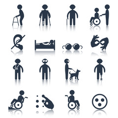 Disabled icons set black