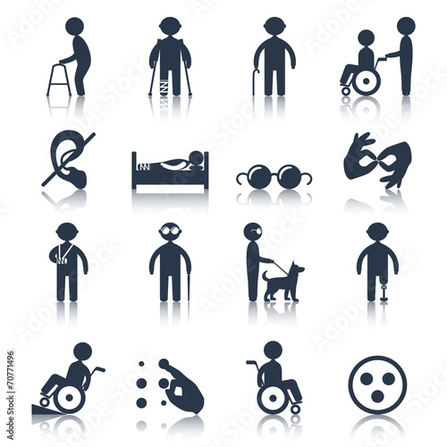 Disabled icons set black - 70771496