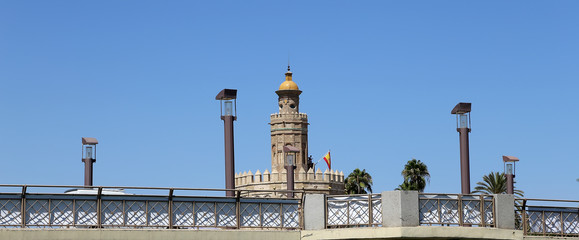 Golden Tower, Seville, Andalusia, southern Spain