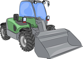 vector wheel mini bulldozer
