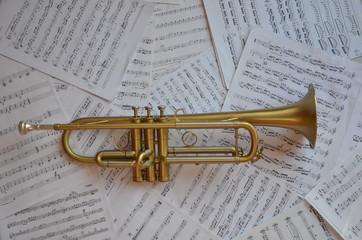 Trompette instrument de musique cuivre