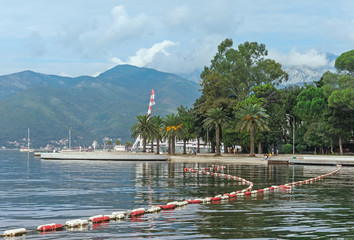 End of the season. Tivat city, Montenegro