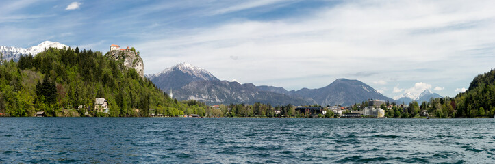 Panorama of Bled Lake