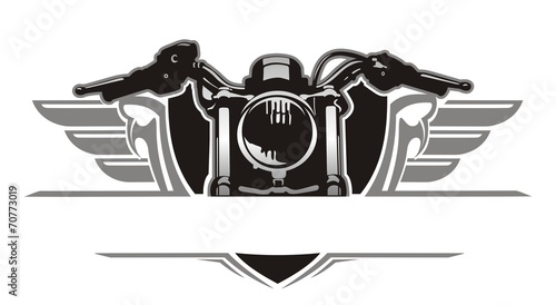 canvas print picture motorcycle wing vintage