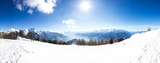 Paesaggio panoramico invernale di montagna