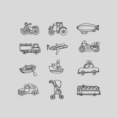 Transport illustration icons