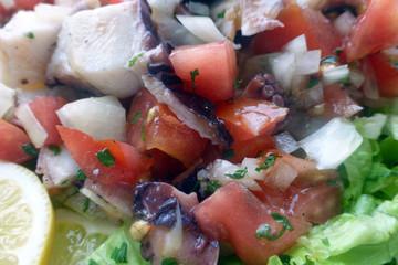 Oktopussalat mit Tomaten