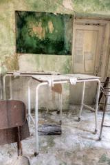 Damaged bulletin board