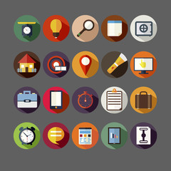 Computer business vector icons