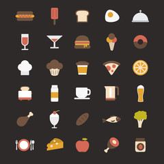 Food vector icons pack