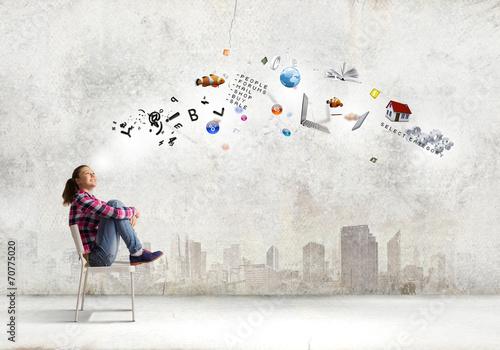canvas print picture Education concept
