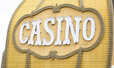 Antique Casino Sign on Building