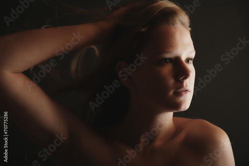 canvas print picture Portrait einer jungen Frau