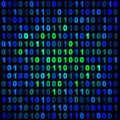Blue & green binary background