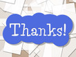 Sign Thanks Shows Display Message And Grateful