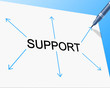 Support Supporting Represents Counselling Helping And Assist