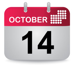 October, fourteen, calendar