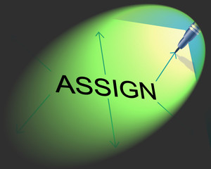 Delegate Assign Indicates Leadership Skills And Appoint