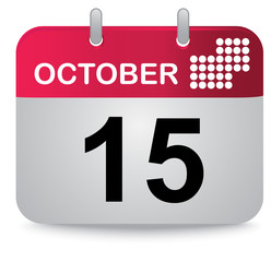 October, fifteen, calendar