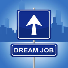 Dream Job Means Signboard Daydreamer And Plan