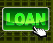 Loan Button Shows World Wide Web And Loaning