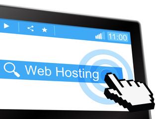 Web Hosting Represents Www Webhosting And Webhost