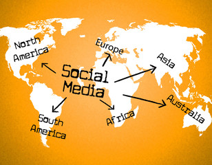 Social Media Indicates World Wide Web And Blogging