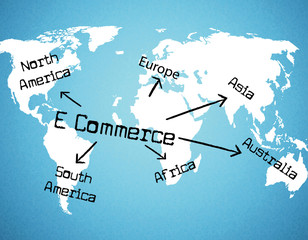 World E Commerce Represents Buying Commercial And Sell