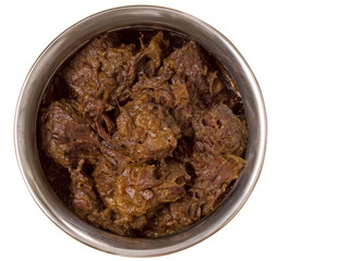spicy beef rendang isolated