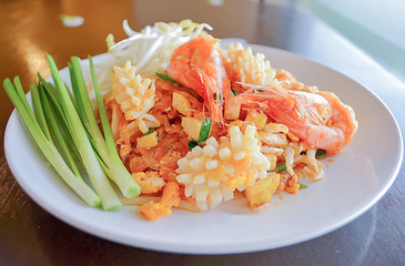Thai style hot and sweet noodles,Pad Thai
