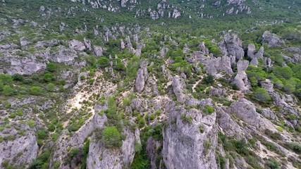 rock formations at cirque de moureze, france