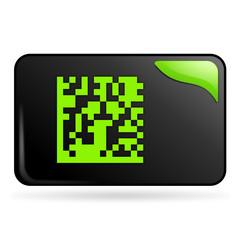 flash code sur bouton web rectangle vert