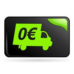 livraison gratuite sur bouton web rectangle vert