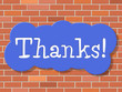 Sign Thanks Means Thankful You And Appreciate