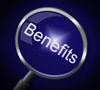 Magnifier Benefits Indicates Award Magnification And Pay