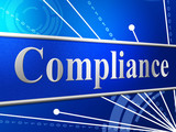 Compliance Agreement Shows Complied Guidelines And Process poster