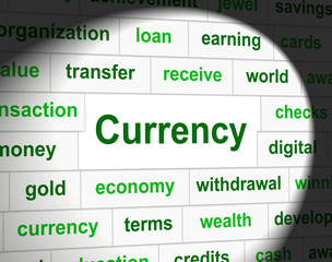 Currency Forex Represents Exchange Rate And Fx