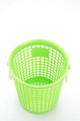 Empty plastic basket