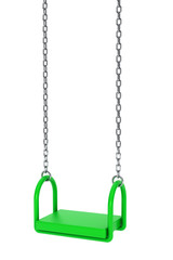 Children green playground swing